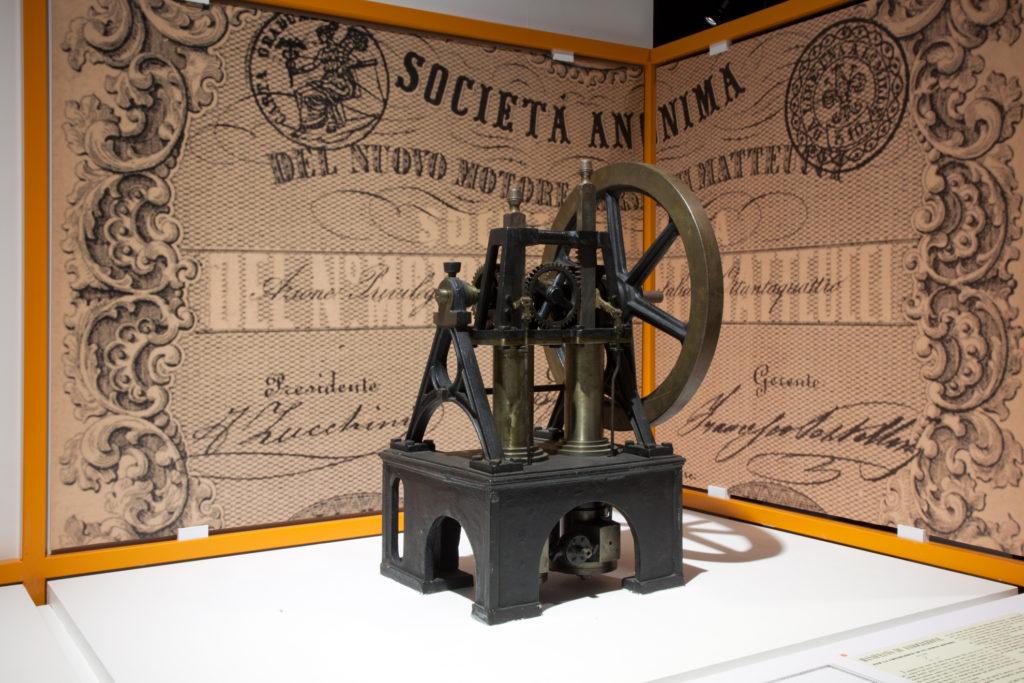 Riproduzione del motore a scoppio Barsanti-Matteucci, Museo nazionale della scienza e della tecnologia L. da Vinci, Milano. Foto di A. Nassiri